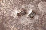 солонка, серебро, 84 проба, штихельная резьба, 1908-1917 г., 17.95 г, фабрика Василия Семенова, Моск...