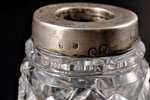 a vase, silver, 875 standart, 2 vases, crystal, the 20ties of 20th cent., Latvia, h = 7.8 cm...