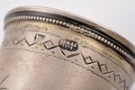 cup, silver, 84 standart, engraving, 1894, 69.15 g, by Ilya Shchetinin, Moscow, Russia, 13.9 cm...