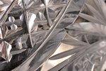 fruit dish, silver, 875 standart, crystal, the 20ties of 20th cent., Latvia, Ø = 15.8 cm, h = 7.3 cm...