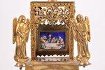 sakramentu trauks, sudrabs, 84 prove, stiepļu emalja, 1842 g., (общий) 499.45 g, Maskava, Krievijas...