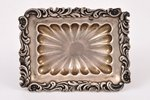 saltcellar, silver, 875 standart, the 20-30ties of 20th cent., 39.40 g, Latvia, 8.5 x 6.4 x 2.5 cm...