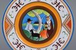 """декоративная тарелка, """"Свидание"""", надглазурная ручная роспись, фарфор, художественная мастерская """"Ба..."""
