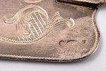 лопатка для торта, серебро, 84 проба, штихельная резьба, 1908-1917 г., 49.25 г, (вес изделия)г, С.-...