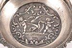 конфетница, серебро, 875 проба, 30-е годы 20го века, 168.50 г, мастер Людвиг Розенталь, Рига, Латвия...