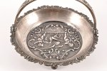 candy-bowl, silver, 875 standart, the 30ties of 20th cent., 168.50 g, by Ludwig Rozentahl, Riga, Lat...