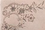портсигар, серебро, 84 проба, штихельная резьба, золочение, 1887-1890 г., 126.95 г, мастер Константи...