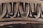 ikru trauks, sudrabs, 875 prove, kristāls, 20 gs. 30tie gadi, Latvija, 13.5 х 8 х 4.8 cm...