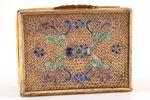 case, silver, metall, 830 standart, gilding, cloisonne enamel, the 19th cent., (total) 75.60 g, Euro...