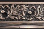 конфетница, серебро, 875 проба, хрусталь, 30-е годы 20го века, Латвия, Ø 20.8 см...