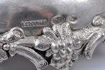 подсвечники, серебро, 84 проба, Szekman  (2 шт.), чеканка, начало 20-го века, 390.1+408.5 г, Минск,...