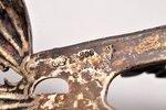 салфетница, серебро, 800 проба, чернение, чеканка, 76.90 г, Германия, 16.9 x 4.6 x 7 см...