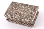 case, silver, the beginning of the 19th cent., 90.35 g, Germany (?), 7.5 x 5 x 2.7 cm, crack along t...