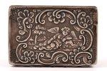 lādīte, sudrabs, 19. gs. sākums, 90.35 g, Vācija (?), 7.5 x 5 x 2.7 cm, plaisa šuves vietā (sk. foto...