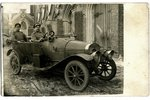 фотография, Царская Россия, солдаты в легковом автомобиле, начало 20-го века, 13.8x8.8 см...