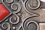grāmatzīme, sudrabs, 875 prove, 1957 g., 3.90 g, darbnīca Rīgas Gravieris, Rīga, PSRS, 6.85 x 2.8 cm...