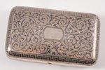 purse, silver, 84 standart, engraving, niello enamel, 1873, (total) 176.10 g, Russia, 10.7 x 6.5 x 2...