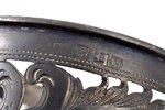 подстаканник, серебро, 84 проба, чернение, 1879 г., 76.45 г, Рига, Российская империя, h 7.4 см...