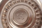 tējkanna (tējas uzlejumam), sudrabs, 84 prove, māksliniecisks gravējums, 1887 g., 222.15 g, Rīga, La...