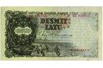 10 lati, banknote, 1939 g., Latvija...