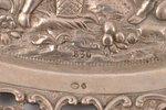 decorative dish, silver, 830 standart, 114.10 g, Germany, 18 x 13.4 cm, Swedish Import Hallmark...