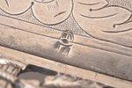 decorative dish, silver, 950(?) standart, the 18th cent., 267.70 g, France(?), 23.1 x 12.6 cm...