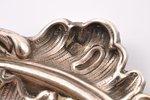 комплект из 6 стопок с подносом, серебро, 950 проба, 1904-1916 г., 144.10 г, мастер Gaston Potiez, Ф...