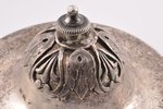 сахарница, серебро, 84 проба, 1816 г., 544.90 г, С.- Петербург, Российская империя, h 16.2 см...
