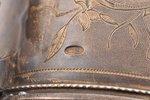 charka (little glass), silver, 84 standart, engraving, gilding, 1880-1890, 74.90 g, Moscow, Russia,...