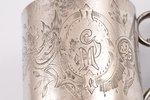 чарка, серебро, 84 проба, штихельная резьба, 1880-1890 г., 88.15 г, Москва, Российская империя, h 6....