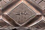 tabakas doze, sudrabs, 84 prove, māksliniecisks gravējums, 19. gs. 1. puse, 158.45 g, Santkpēterburg...
