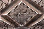 табакерка, серебро, 84 проба, штихельная резьба, 1-я половина 19-го века, 158.45 г, С.- Петербург, Р...