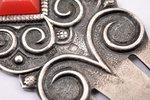 закладка для книги, серебро, 875 проба, 1957 г., 4.10 г, мастерская Ригас Гравиерис, Рига, СССР, 6.8...