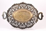 fruit dish, Fraget w Warszawie, silver plated, Russia, Congress Poland, the 2nd half of the 19th cen...