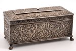 cigar-case, silver, 830 standart, silver stamping, silver weight 525.65g, Finland, 18.6 x 8.7 x 9 cm...