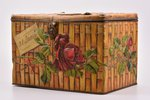 "box, factory ""I. L. Ding"" Moscow, metal, Russia, the border of the 19th and the 20th centuries, 24 x..."