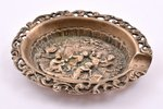 ashtray, silver, 915 standart, silver stamping, the 20th cent., 45.05 g, Spain, 7.7 x 6.3 cm...