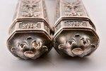 galda piederumu komplekts, sudrabs, 3 priekšmeti, metāls, izstrādājumu kopējais svars 357.10g, Franc...
