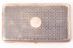 snuff-box, silver, 84 standart, niello enamel, 1870, 123.40 g, Russia, 9.8 x 5.8 x 2 cm...