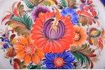 decorative plate, porcelain, Rīga porcelain factory, signed painter's work, handpainted by Vera Klim...