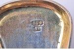 flatware set, silver, 84 standart, 3 pcs, 1884, 123.15 g, master Lassas Henrik, St. Petersburg, Russ...