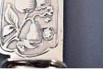 950 проба, комплект ножей, 12 шт., перламутр, 1902-1923 г., (общий вес изделий) 545.05г, Laparra & G...