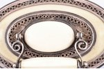 case, silver, 925 standart, ivory, (total weight of item) 137.85g, Europe, 8.2 x 6 x 5.5 cm...