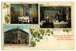 "postcard, Riga, restaurant ""Otto Schwarz"", Latvia, Russia, beginning of 20th cent., 14x9 cm..."
