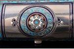 cigarette case (?), silver, 88 standart, enamel, 1886, 110.05 g, by Konstantin Skvortsov, Moscow, Ru...