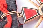 "order, Order of Saint Vladimir, with rose-knots, 4th class, gold, Russia, 39.1 x 35.2 mm, ""Эдуардъ"",..."