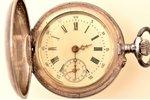 "pocket watch, ""Cylindre"", women, Switzerland, silver, 875 standart, 29.45 g, 4.7 x 3.4 cm, 25 mm, in..."