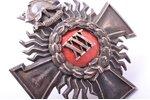 знак, 30 лет выслуги в пожарной службе, Латвия, 30-е годы 20-го века, 44 x 42 мм...