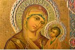 icon, Tikhvin icon of the Mother of God, printed on tin, board, metal, Zhako and Bonaker factory, Ru...