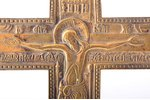 cross, The Crucifixion of Christ, copper alloy, Russia, 27.7 x 14 x 0.5 cm, 458.95 g....
